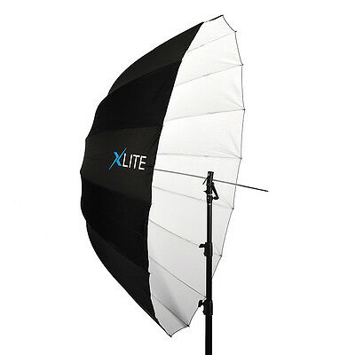 Xlite Deep Parabolic Black White Umbrella 165cm Studio Flash Lighting