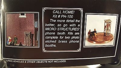 Z Miller-Eng-Micro-Struct. Photo Etched Kit # PH-100 - 2 Phone Booths
