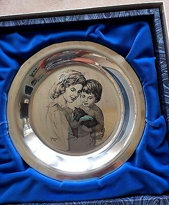 """1976 The Franklin Mint """"Mother and Child"""" Limited Sterling Silver Irene Spencer"""