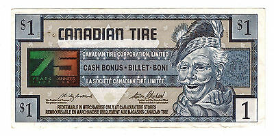 1996 $1.00 CTC CANADIAN TIRE MONEY NOTE coupon 75 years of service 7501856793