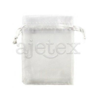 25pcs 9x12cm Pink ORGANZA XMAS GIFT BAGS Wedding Party Jewellery Pouches FB