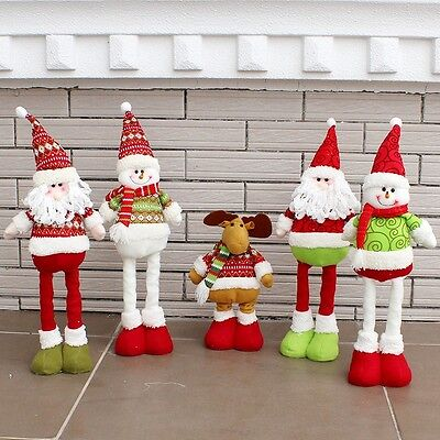 Noël Santa Claus Bonhomme de neige Ornament Festival Party Xmas Tree Table Decor