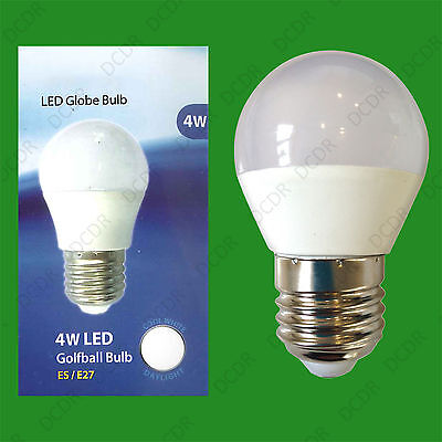 2x 4W (=40W) ES E27 6500K Daylight White G45 Round Golf Ball LED Light Bulb Lamp