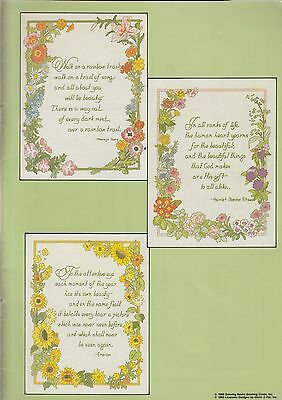 Gardens of the Mind - Cross stitch book - 12 designs - from my stash