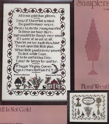 The Maggie Virginia Curren Samplers - Cross Stitch chart - from my stash