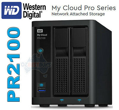 Western Digital WD My Cloud Pro PR2100 Network Attached Storage NAS 0TB DISKLESS