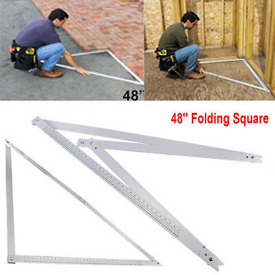 "48"" Large Folding Aluminium Builders Square Angle Ruler for Patios Carpentry UK"