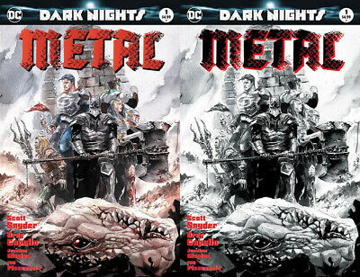 Dark Nights Metal #1 Dustin Nguyen Variant (Color + B&w)