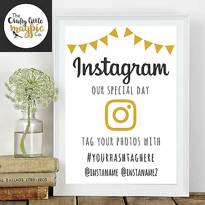 Personalised Instagram Wedding Print/Sign