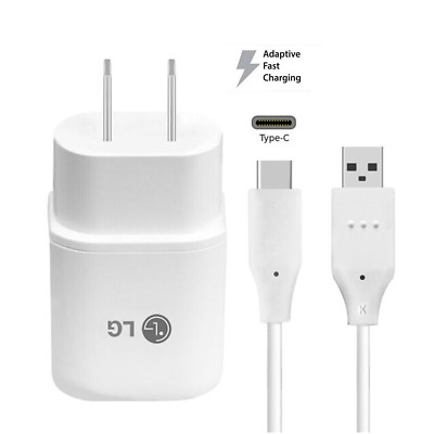 Original Fast Charging Wall Charger&USB Type C Data Cable Cord For LG G5 V20 G6