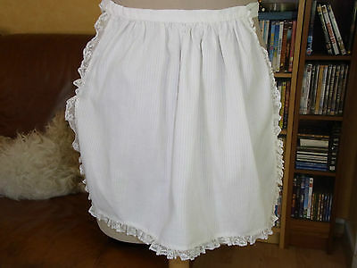 APRON GIRL COTTON T 7 years and + VINTAGE GIRL COTTON APRON 7 yrs &