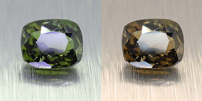 Untreated Deep GREEN GOOD Colour Change Ceylon Alexandrite 1.25 Ct. (00897)