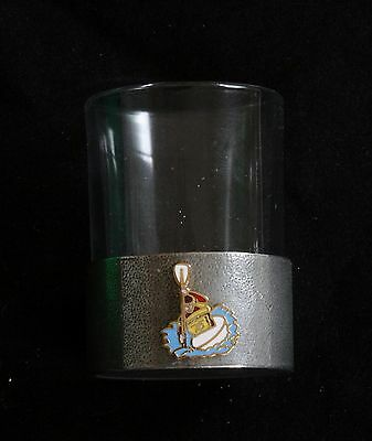 Canoer Shot Glass Pewter Based Round 50 ml Canoeing Gift