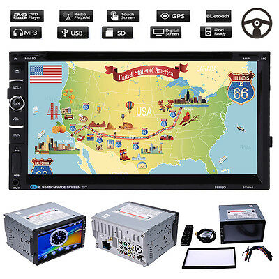 "7"" Double 2DIN HD GPS Car Stereo DVD Player DVD/VCD/CD/MP3/MP4/divx Android + 8G"
