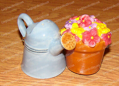 Green Thumb Salt & Pepper Shakers (MWAH by Westland, 93479) Watering Can, Flower