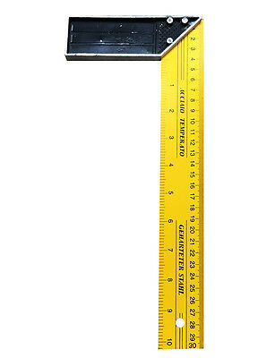 Double Sides 30cm Measure Range 90 Degree L Shape Wood Working Square Ruler