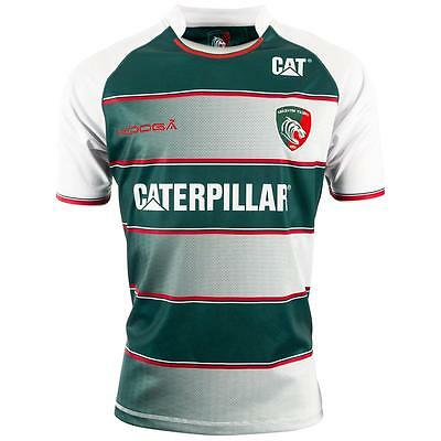 KooGa Rugby Shirt Leicester Tigers Home Replica Jersey 15/16 Green/White