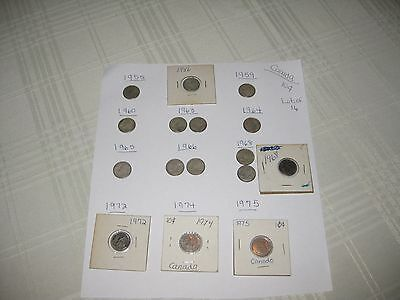 LOT of 16:  Canada 10 cents coins