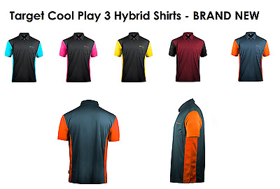 TARGET COOLPLAY 3 HYBRID DARTS SHIRT - Two Colour Cool Play Polo, 8 SIZES