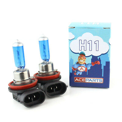 Ford Fiesta MK6 55w ICE Blue Xenon HID Front Fog Light Bulbs Pair
