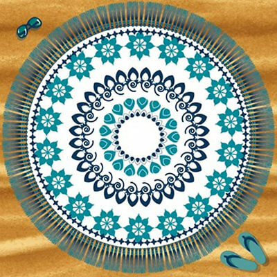 Moroccan Themed Extra Large Beach Towel - 180 x 180 cm