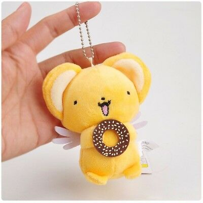 Card Captor Sakura Kero Keroberos With Cookies Plush Keychain Doll Schlüsselbund