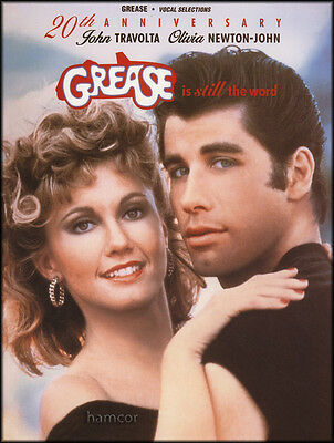 Grease is Still the Word Piano Vocal Guitar Sheet Music Book 20th Anniversary Ed
