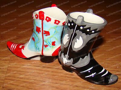 COWBOY BOOTS Salt & Pepper Shakers (MWAH by Westland, 93463) Magnetic