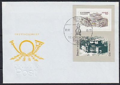 DDR FDC Block 80 mit SST Berlin Semperoper 12.02.1985, first day cover