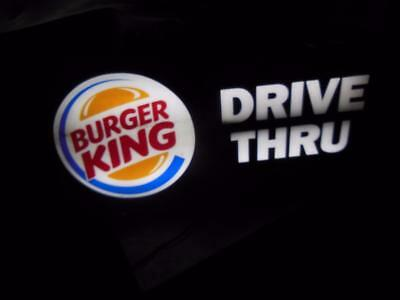"Original Vintage Lighted Burger King Drive Thru 37"" X18"" X 5"" Advertising Sign"