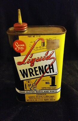 LIQUID WRENCH CAN,ONE U.S.QUART 32oz. RARE SIZE OLD!