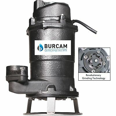 BurCam Cast Iron Grinder Pump-1875 GPH, 3/4 HP, 2in. Port, Model# 400700P