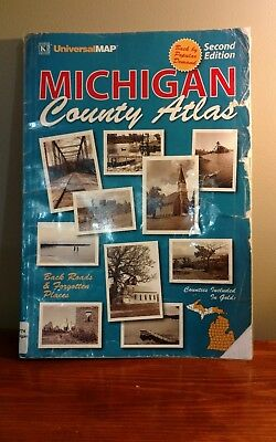Michigan County Atlas With County History Historic Sites Back Roads - Scarce