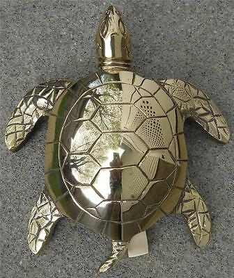 Large Solid Brass Sea Turtle Doorknocker Door Knocker Turtles Nautical Decor