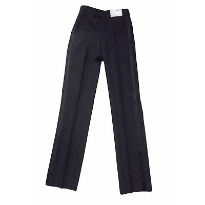 Boys Tuxedo Pants Black Non Pleated Adjustable NEW Youth Formal Trousers