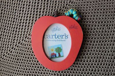 Eric Carle Carter's VERY HUNGRY CATERPILLAR small APPLE photo shelf FRAME- HTF