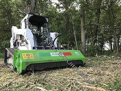 """Skid Steer Flail Mower: Peruzzo SS190, 75"""" DIRECT DRIVE Cut To 3""""Dia, 16-23GPM's"""