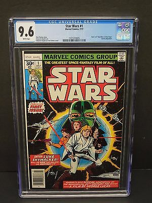 MARVEL COMICS STAR WARS #1 CGC 9.6 WHITE PAGES 1st ISSUE KEY A NEW HOPE