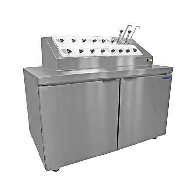 """Nor-Lake ZR152SMS/0 54"""" Ice Cream Topping Cabinet with Refrig Rail and Base"""