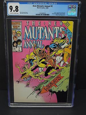 MARVEL COMICS NEW MUTANTS ANNUAL #2 1986 CGC 9.8 1st PSYLOCKE APPEARANCE
