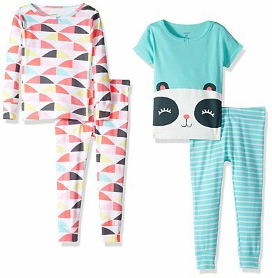 Carter's Girls' 4 Piece Panda Bear PJ Set