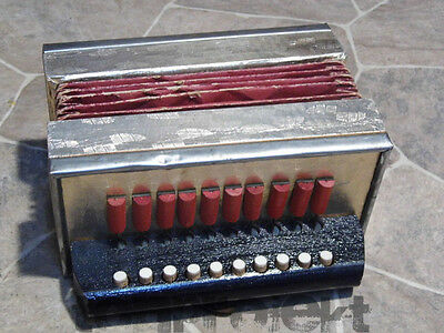 sweet old little historic diatonic one row BUTTON ACCORDION  Germany