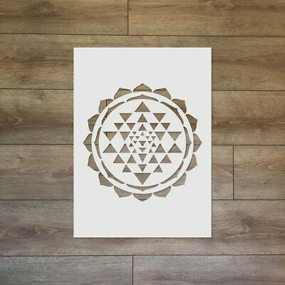 Sri Yantra Sacred Geometry Reusable Plastic Stencil