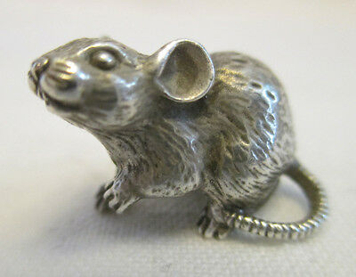 "Silver figurine miniature ""Mice"" (""Mouse""). Solid silver."