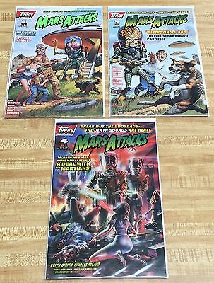 Mars Attacks Issues 1 2 & 4 - Topps Comics - 1994 - Lot