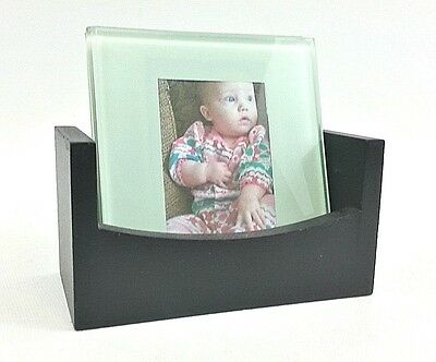 GLASS PICTURE FRAME Coasters ~ Hearts, Set/2, Thank You Gift, 1.5x2 ...