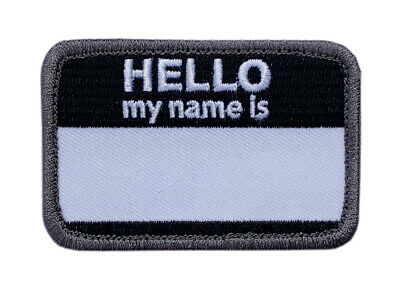 Hello My Name  Army Morale Hook Patch PVC Rubber-RA2