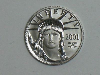 2001 AMERICAN PLATINUM EAGLE - 1/10 TROY OUNCE $10 UNITED STATES COIN - TENTH oz