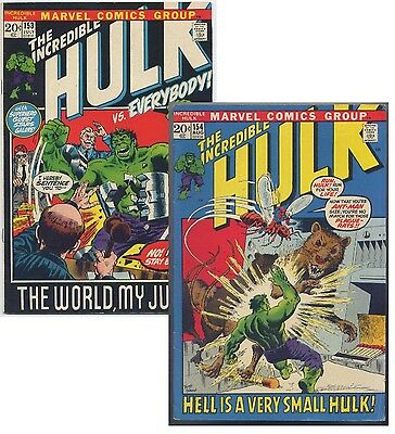 Incredible Hulk #153 & #154 (1972) Marvel 2 Issue Lot,  See Scans for Condition