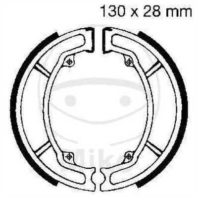 EBC Brake Shoes y506g Rear Front China Scooter YY125T-11 (B15) 125